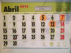 Calendario de Abril en la Nave
