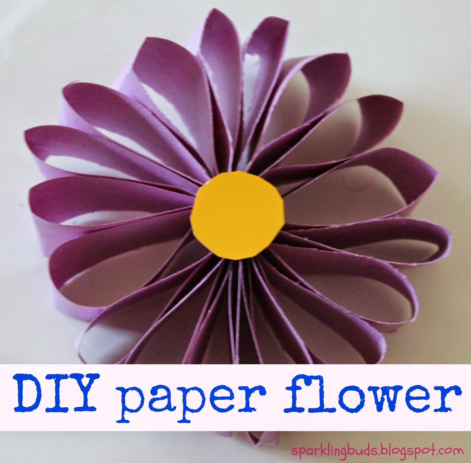 Easy paper flower sparklingbuds it is a very simple to do procedure i just gave the instructions and my daughter did everything from scratch mightylinksfo