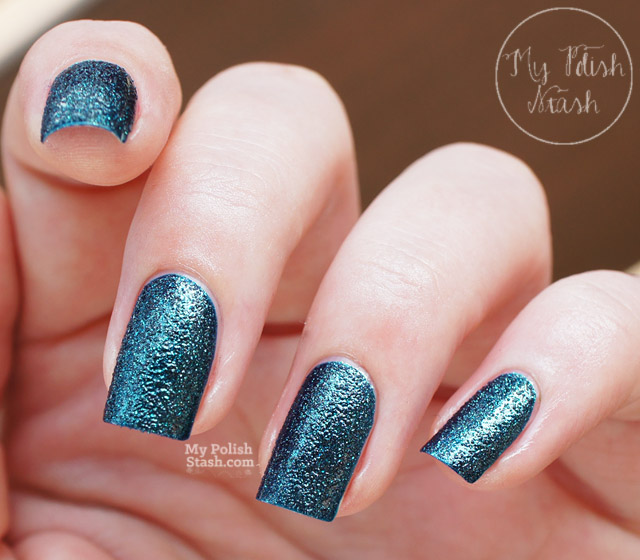 deep blue textured nail polish