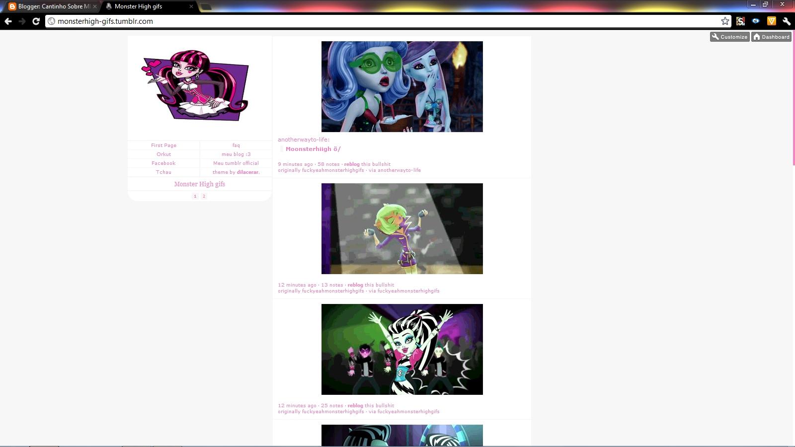 Meu Tumblr Blog Cantinho Sobre