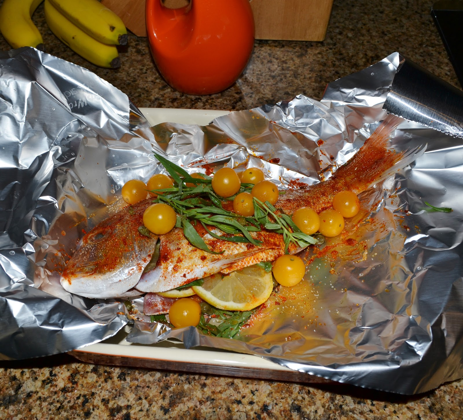 Oven baked snapper yummy eats and travels for How to cook whole fish in the oven