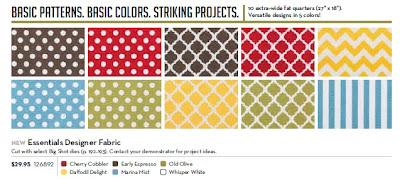 Stampin'UP!'s fabric patterns on sale.