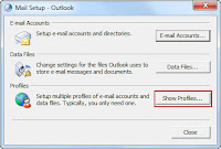 mail setup window in outlook