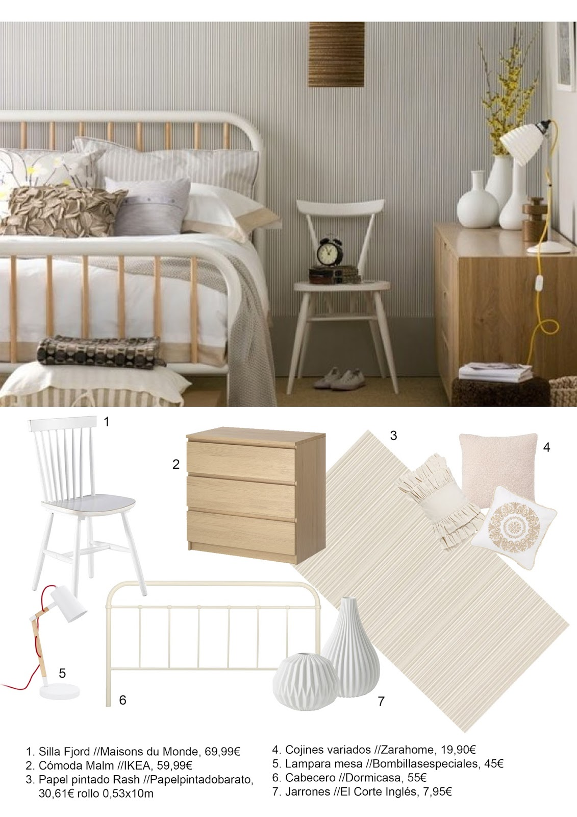 Decora por menos un dormitorio de estilo escandinavo - Cabecero estilo escandinavo ...