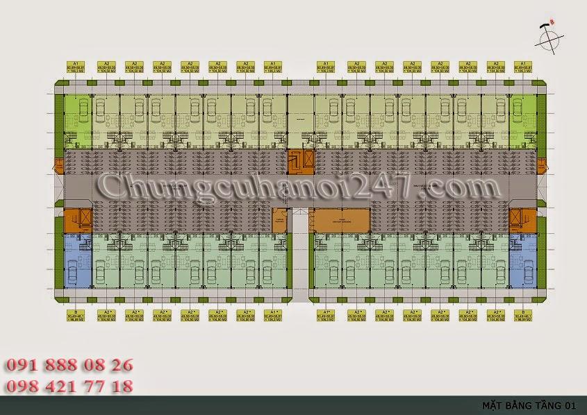 mặt bằng thiết kế tầng 1 chung cư thanh hà cienco 5 hà đông