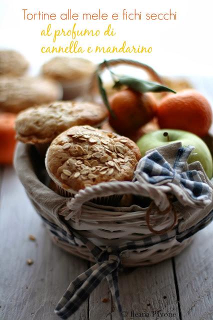 tortine alle mele e fichi secchi al profumo di cannella e mandarino ( senza lattosio )