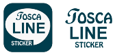 TOSCA LINE STICKER