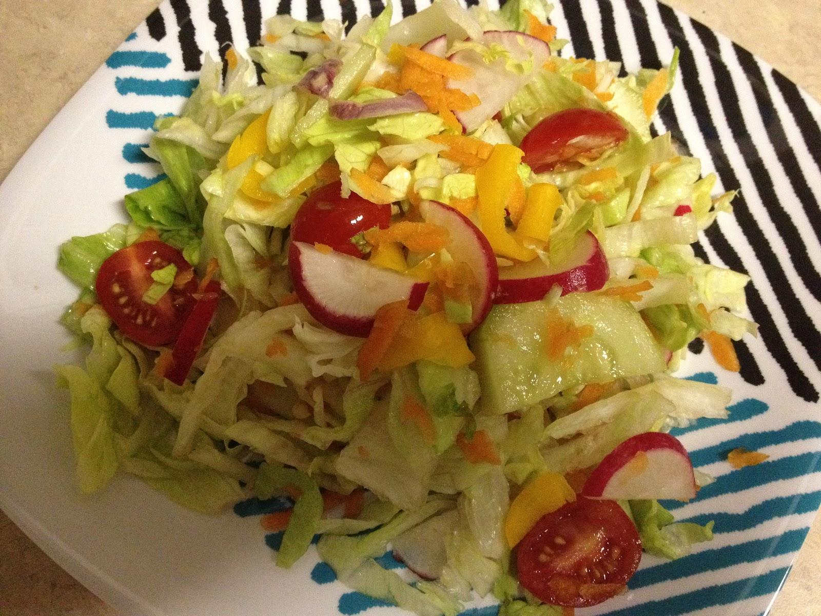 simple iceberg lettuce salad with lemonampspicy mustard