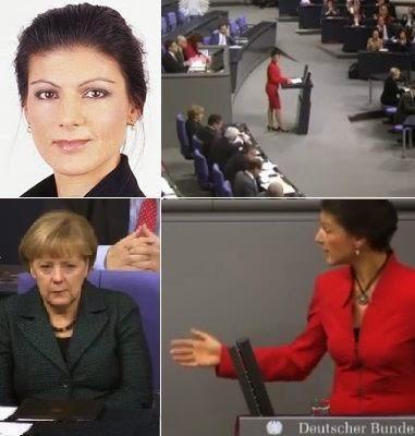 Sarah Wagenknecht speech in Bundenstag targets Merkel