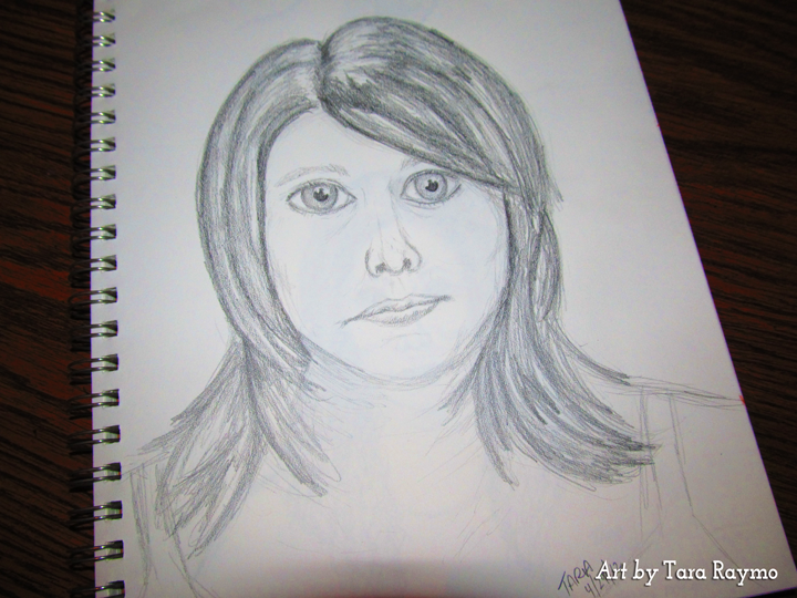 how to draw a self portrait using a mirror