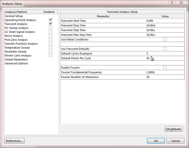 Simulation Setting in Altium Designer