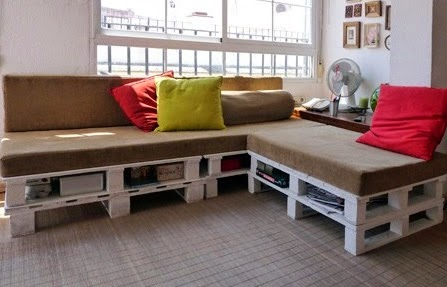 Hacer un sof con palets en 3 f ciles - Como hacer un sofa con palets ...