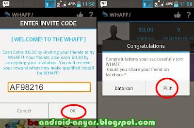 Trik cepat dapat dolar Whaff dengan kode khusus