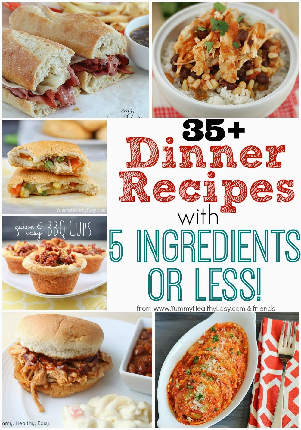 35 dinner recipes with 5 ingredients or less yummy healthy easy i am a huge fan of easy dinner recipes being a busy mom i need quick and easy im also immediately turned off by recipes that have a million ingredients forumfinder Images