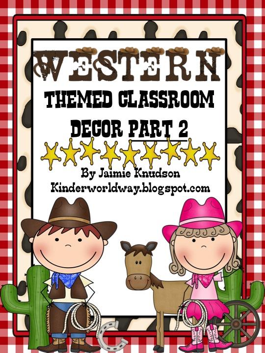 Western Classroom Decor ~ Kinderworld western theme classroom