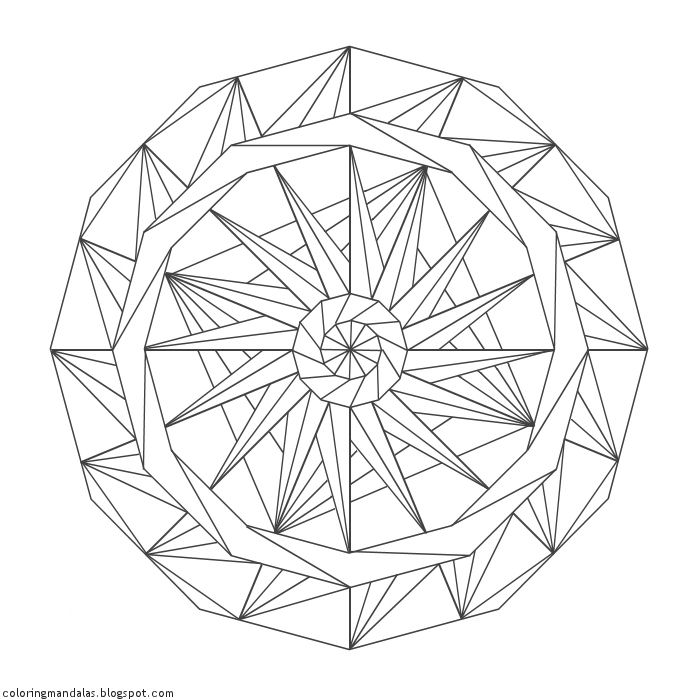 Coloring Mandalas 07 Wheel of Creation