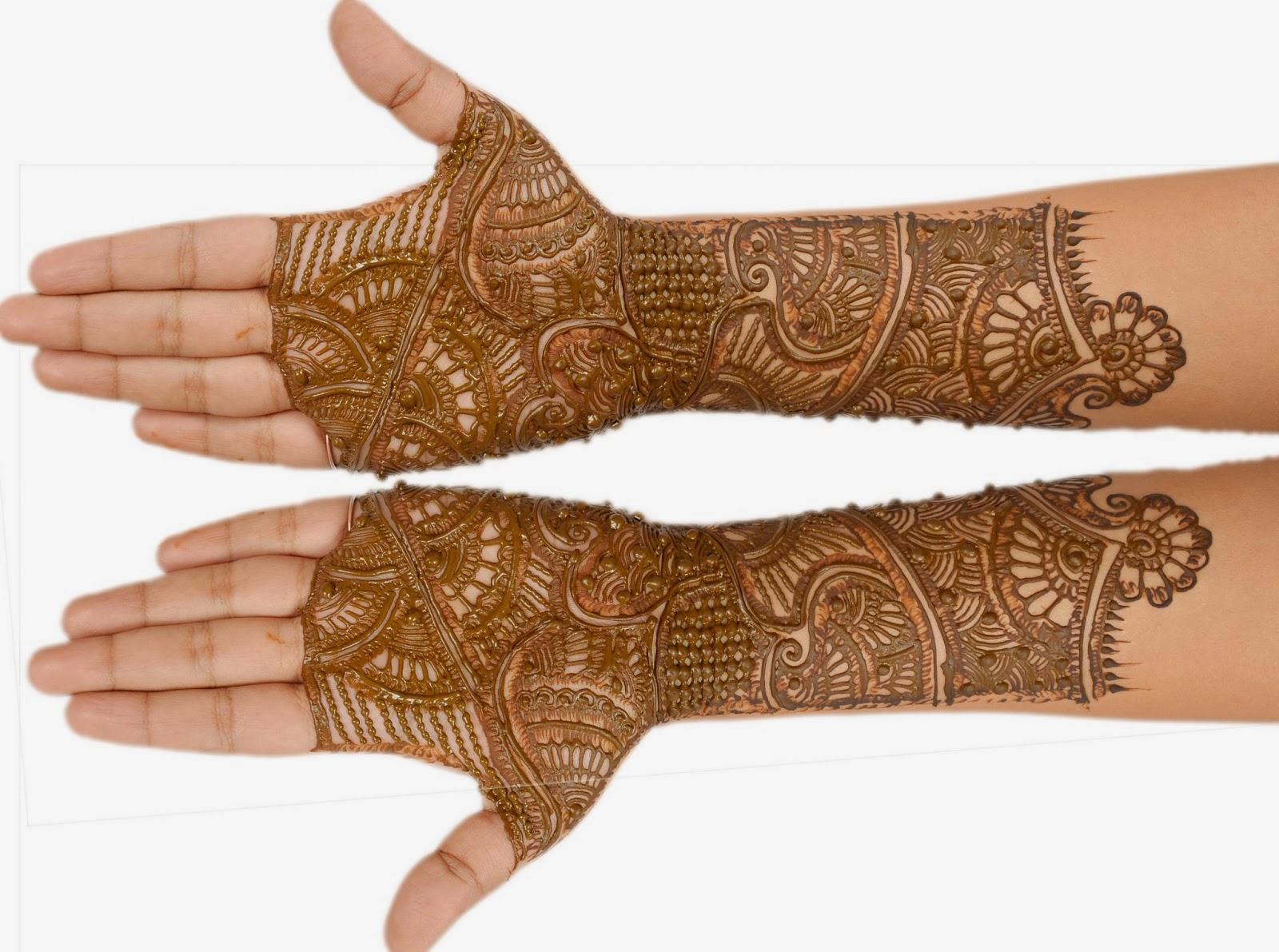 Mehndi Front Side : Mehndi design arabic front side makedes