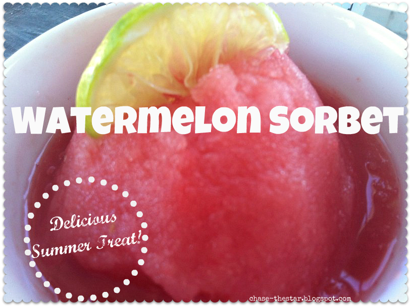 Watermelon Sorbet Recipe - Chase the Star