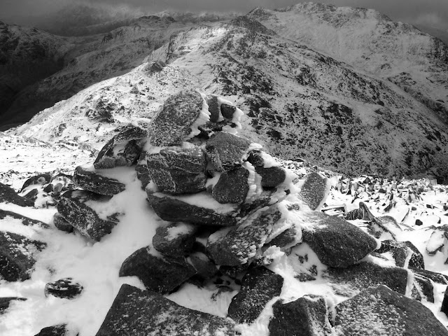 Bowfell in snow