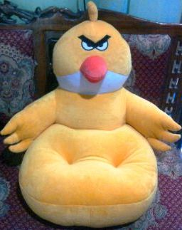 PUSAT GROSIR SOFA BONEKA ANGRY BIRD HITAM