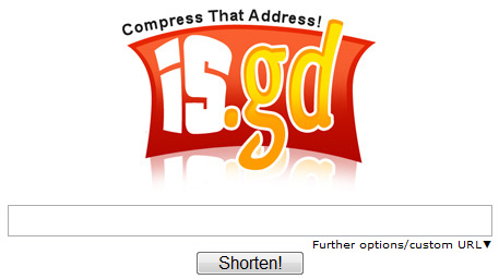 is.gd - a URL shortener. Mmmm, tasty URLs