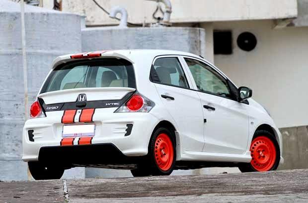 Foto gambar modifikasi mobil honda brio satya keren terbaru