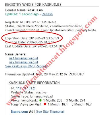 Wow Ternyata Website Kaskus.us Berganti Domain Menjadi Kaskus.com Dan Kaskus.co.id
