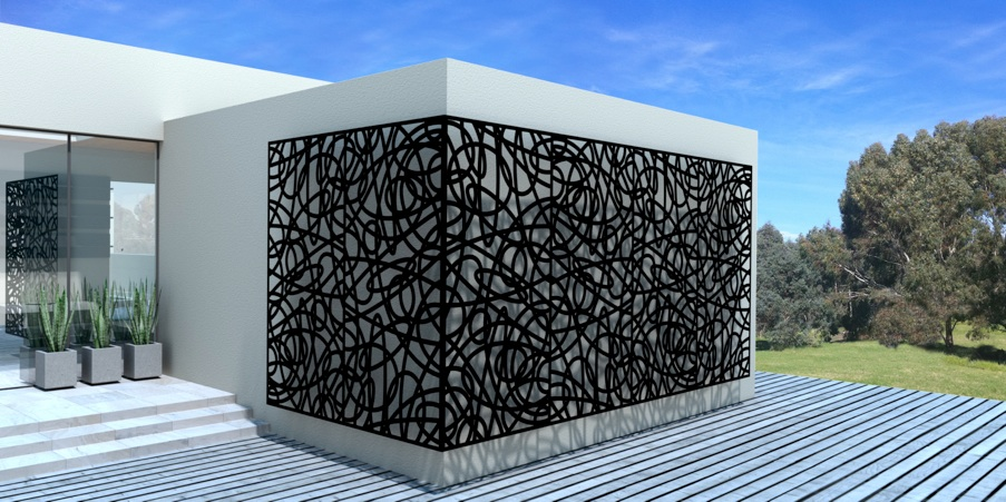 Metal Architectural Screen Wall : Architectural perforated metal panels
