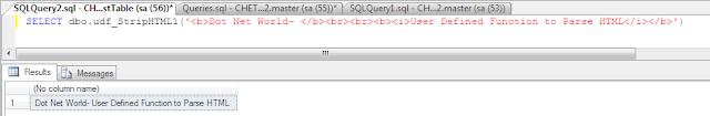 Parse HTML in SQL Server
