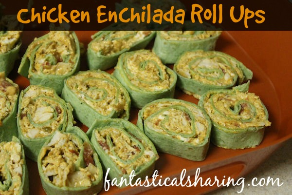 Chicken Enchilada Roll Ups | A classic main course made into a dip made into a roll-up appetizer that no one will be able to get enough of! #recipe #appetizer #snack