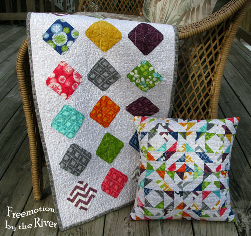 Simply Color Table runner and Pillow at Freemotion by the River