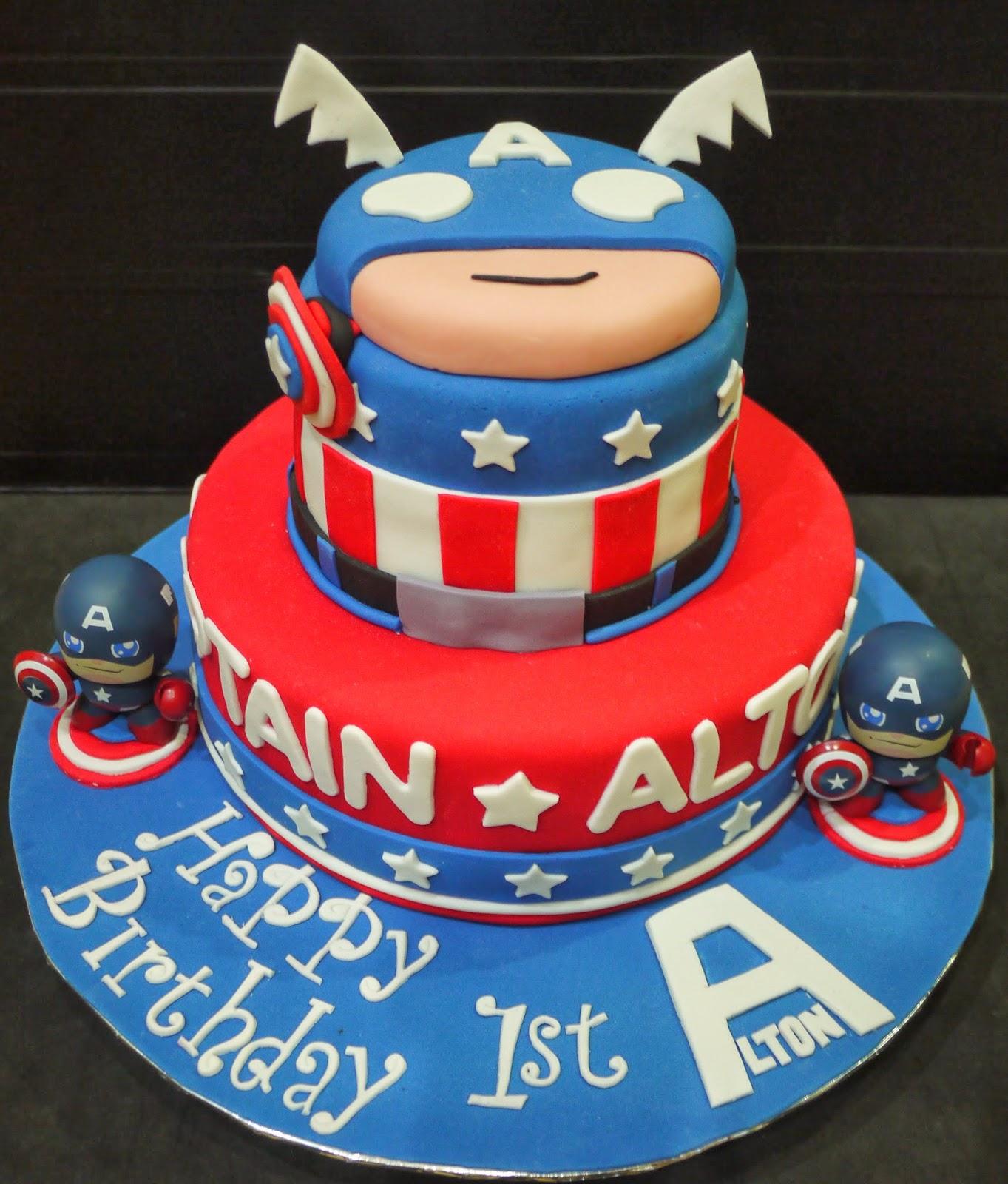 Captain America Cake Decorating Kit