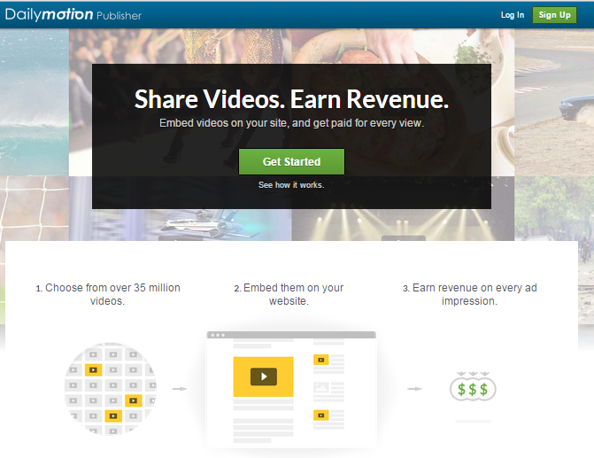 dailymotion adsense alternative.