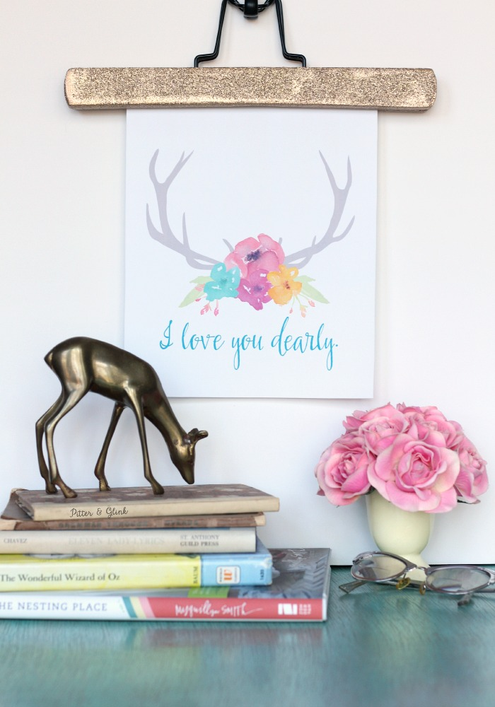 """Free """"I Love You Dearly"""" Printable--Perfect for Valentine's Day and beyond! pitterandglink.com"""