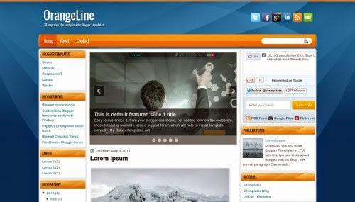 OrangeLine - Free Blogger Template