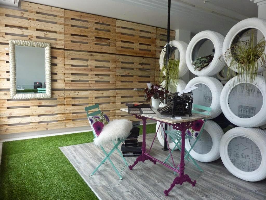 Mi kely reciclaje de neum ticos un biombo para nuestro - Decoracion reciclaje interiores ...