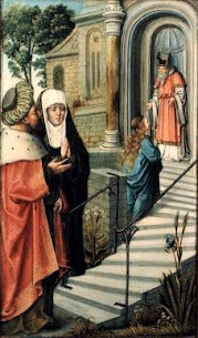 Glorious Saint Anne – Iconography of Saint Anne, Day 4 – Presentation of Mary in the Temple