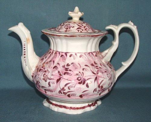 Pink Luster Teapot