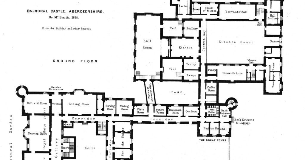 Houses of state balmoral castle floor plans the for Castle home floor plans