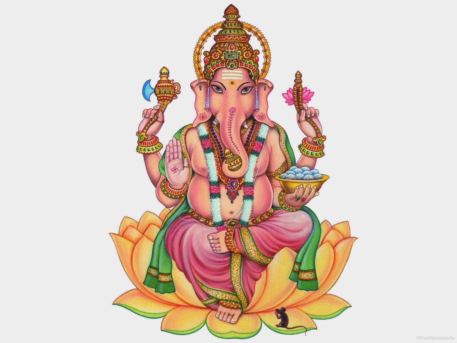 Happy Diwali with ganpatibapa in lotus (Wallpaper groups)
