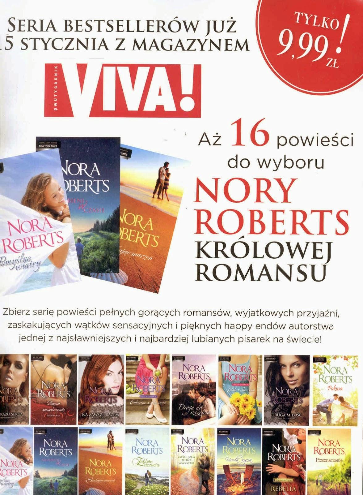 "16 książek Nory Roberts z ""Vivą"", każda za 9,99 zł!"