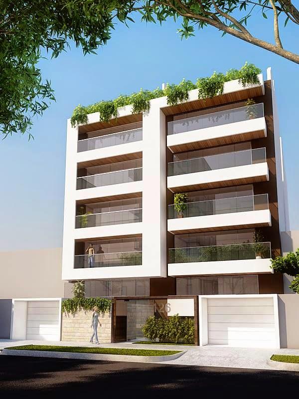 Fachadas de edificios de departamentos fachadas de casas for Departamentos minimalistas planos