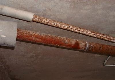 oxidación de tuberías de hierro