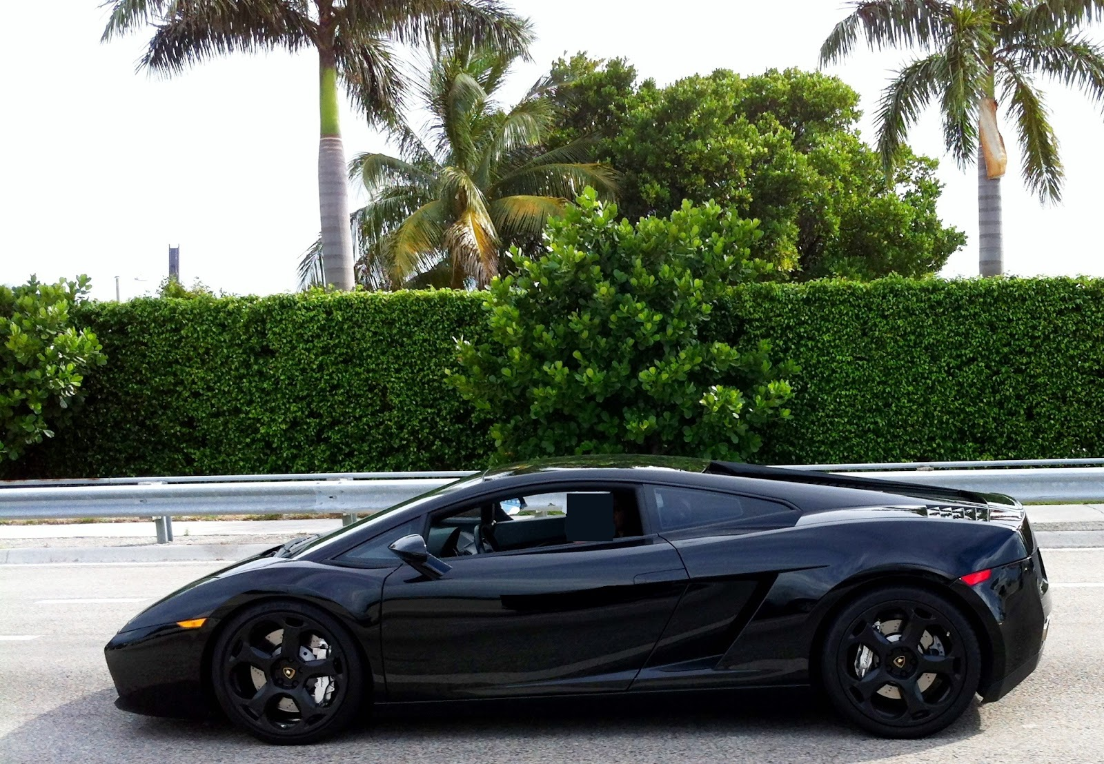 Black Lamborghini Gallardo With Black Rims