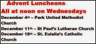 12-11/18 Advent Luncheons In Coudersport