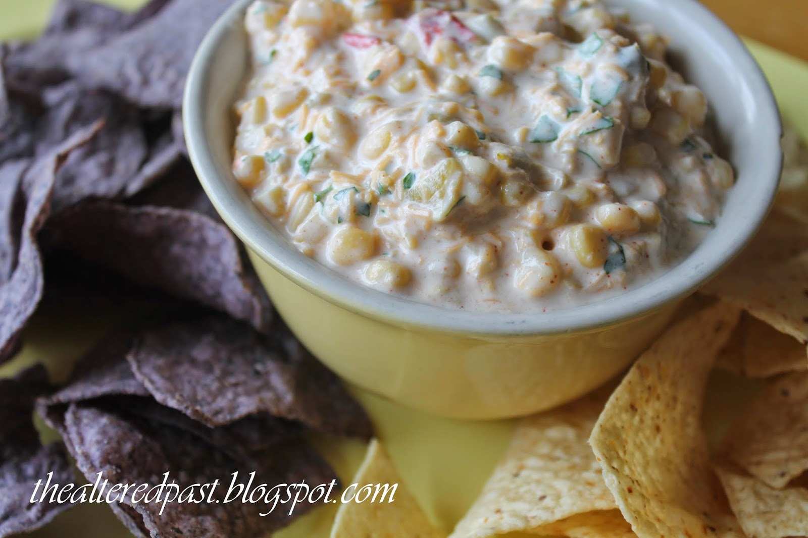 fiesta corn salsa, super bowl recipes, the altered past blog