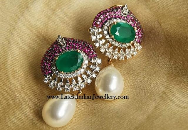 Lovely Diamond Ruby Earrings