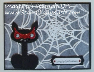Punch Art Halloween Cat and Spider Web Embossing Folder