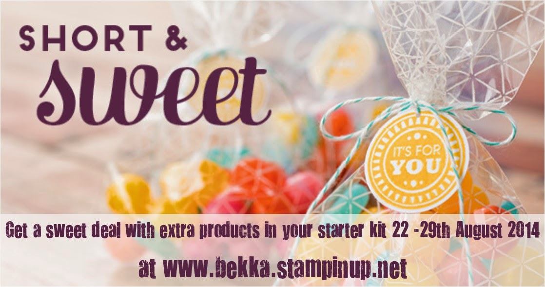 Join Stampin' Up! UK here and get a sweet deal
