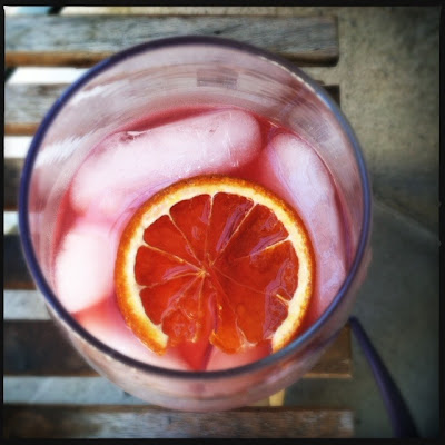 pomegranate orange margaritas with orange infused tequila